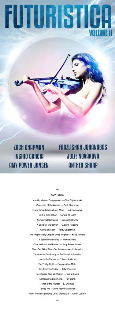 Futuristica Volume 2 - Cover and TOC